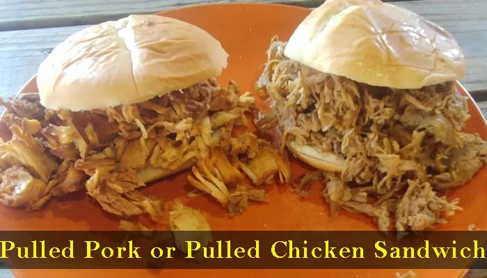 Hawg Pit Barbecued Pulled Pork or Pulled Chicken Sandwich Grafton IL 62037